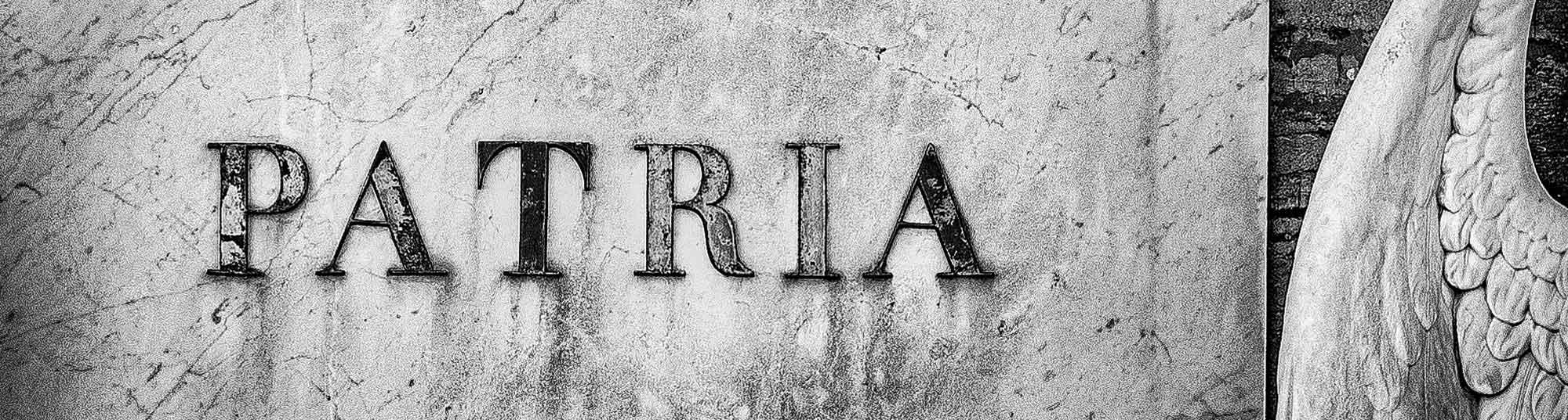Patria typographie