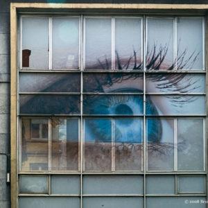 photographie à Anderlecht, quartier de la place Bara, façade d