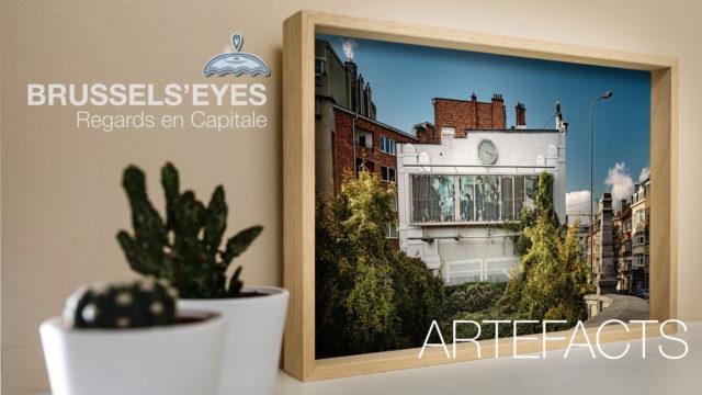 Bruxelles comme cadeau design original et indémodable, une image imprimée sur Dibond et encadrée dans une caisse américaine